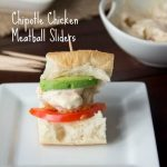 Chipotle Chicken Meatball Sliders #KraftFreshTake