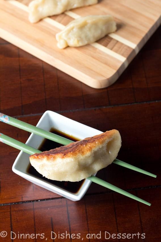 Pan Fried Shrimp and Pork Potstickers