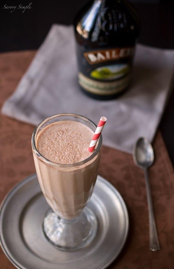 nutella irish cream milkshake in a cup