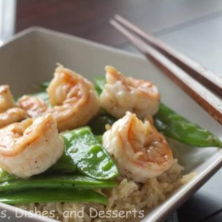 black pepper caramel shrimp on a plate