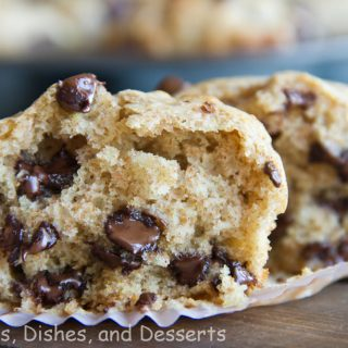 buttermilk chocolate chip muffins on a table
