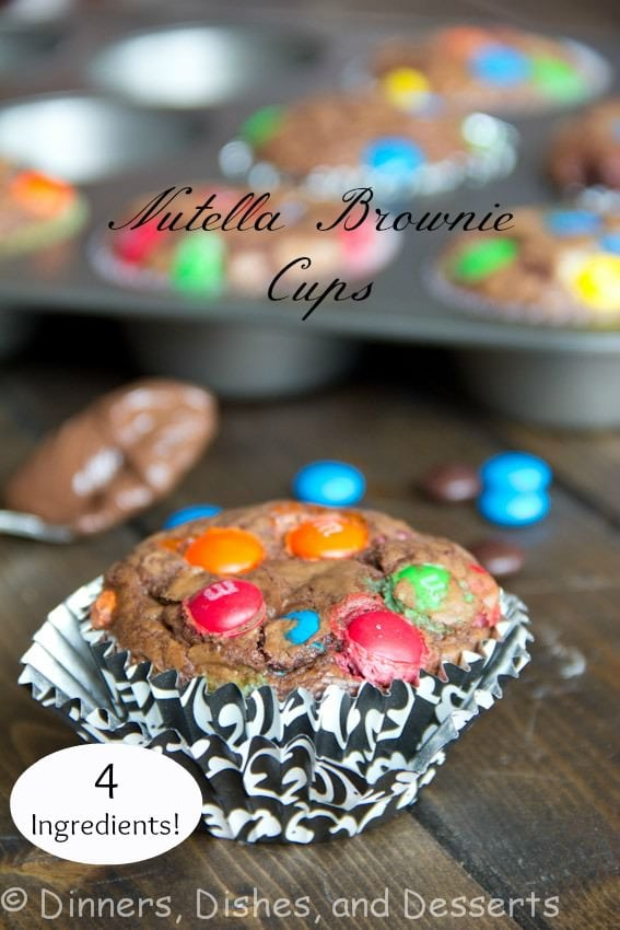 nutella brownie cups on a table