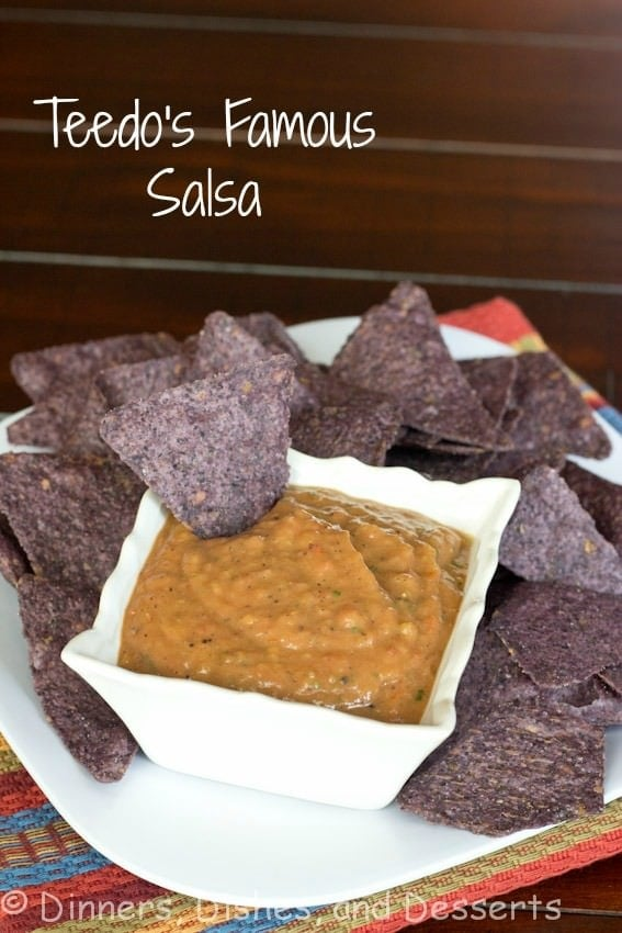 teedos famous salsa in a bowl