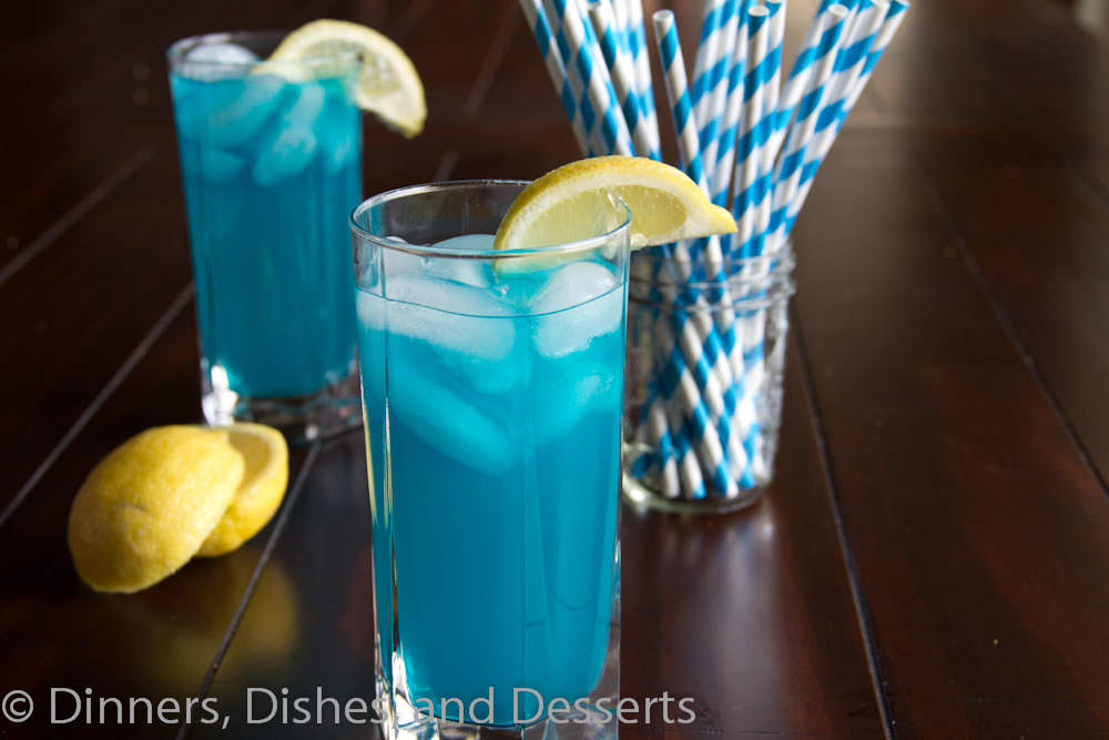 Blue Vodka Lemonade | Dinners, Dishes, and Desserts #recipe