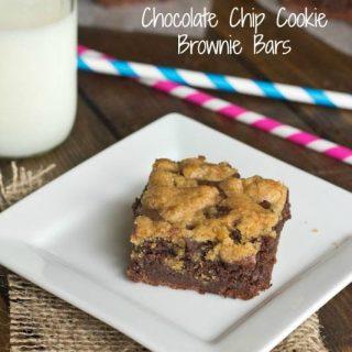 Chocolate Chip Cookie Brownie Bars #recipe