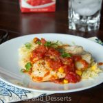 Tilapia with Tomatoes and Orzo #recipe