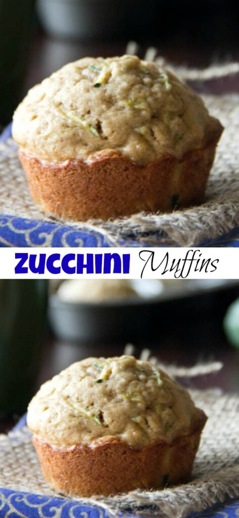 zucchini muffins on a napkin close up