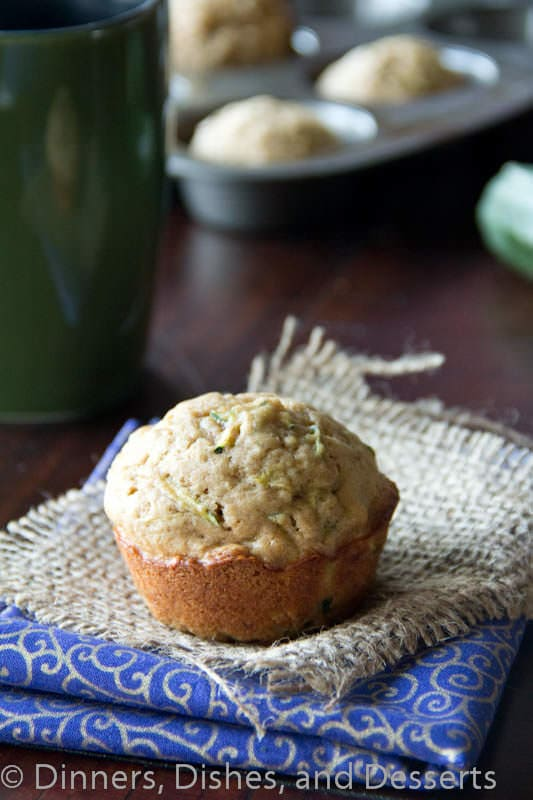 zucchini muffins on a napkin