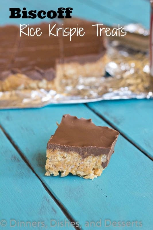 Biscoff Rice Krispie Treats #recipe