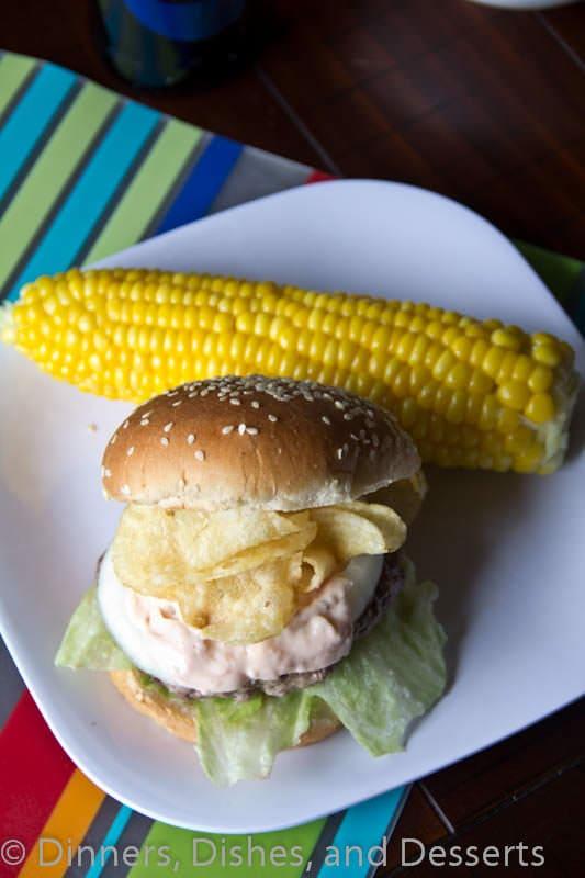 crunchburger on plate