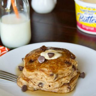Oatmeal Chocolate Chip Pancakes #recipe