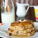 Oatmeal Chocolate Chip Pancakes #recipe