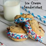 Chocolate Chip Cookie Ice Cream Sandwiches
