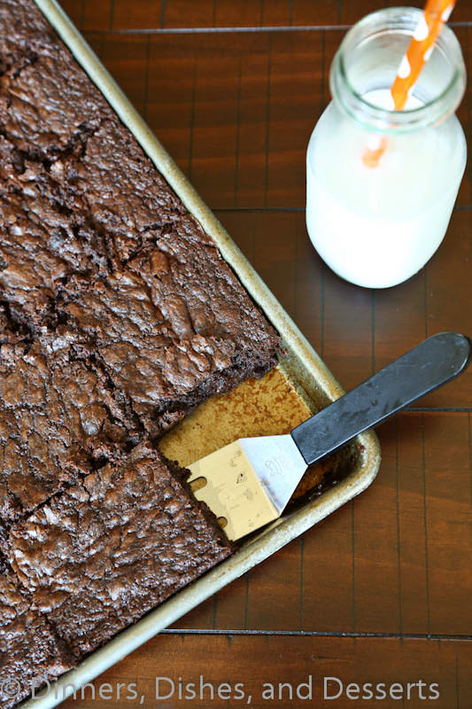 outrageous brownies on a pan
