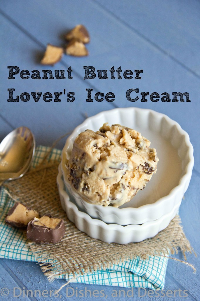 peanut butter lovers ice cream in a bowl