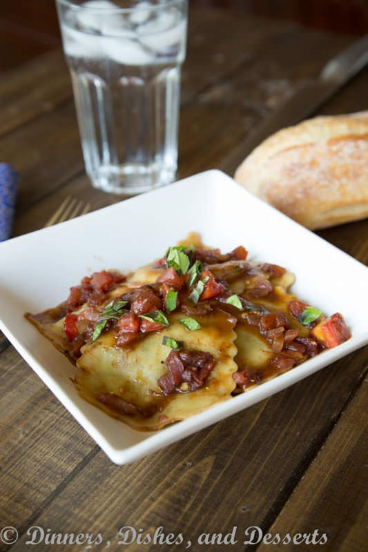 Tomato Balsamic Ravioli