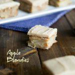 Apple Blondies w/ Cinnamon Brown Sugar Frosting