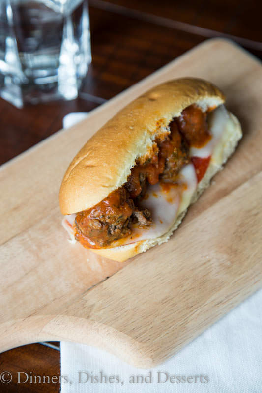 Bruschetta Meatball Subs