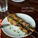 Ginger Soy Beef Kebobs