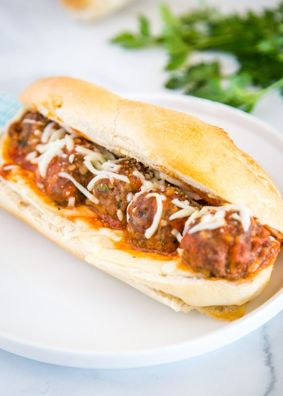This meatball sub recipe is easy to make and great for weeknight dinners