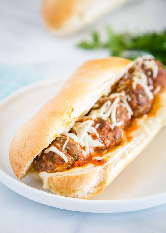 Easy meatball sandwich that you can serve as dinner or even serve for a party.