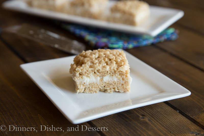 Pumpkin Cake Rice Krispie Treats