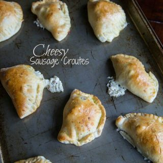 Cheesy Sausage Croutes