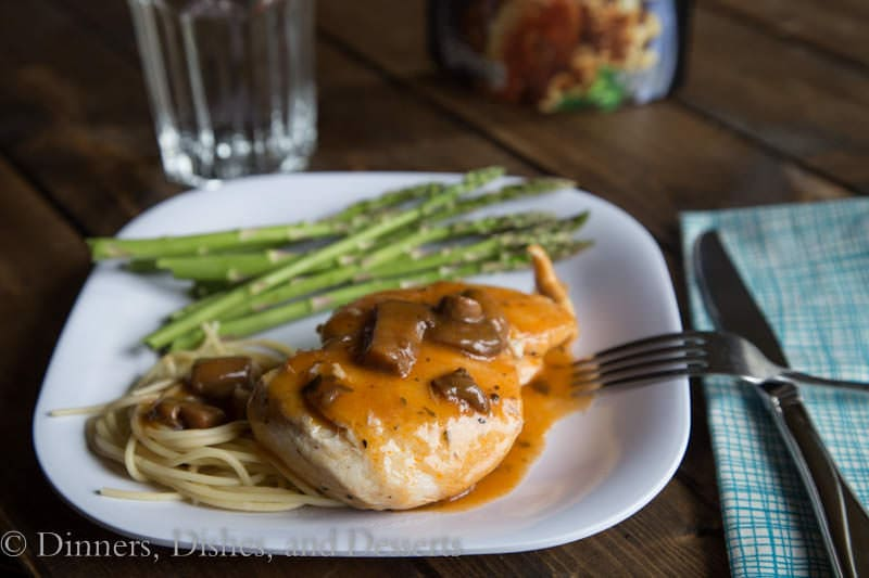 chicken marsala on a plate