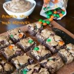 Pumpkin Spiced M&M Brownies