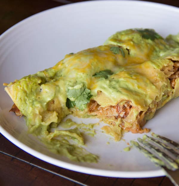 Turkey Avocado Enchiladas