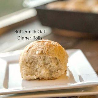 buttermilk oat rolls on a plate