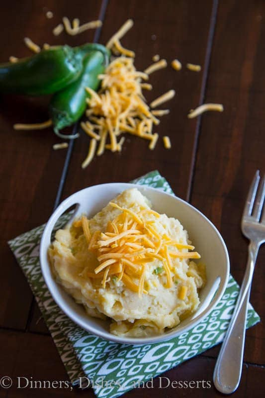 Jalapeno Cheddar Mashed Potatoes
