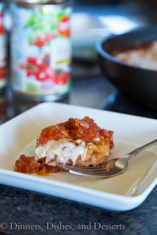 pork tenderloin bruschetta on a plate
