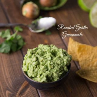 Roasted Garlic Guacamole (12 Days of Christmas)