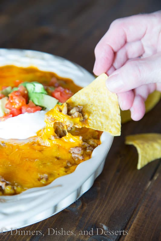 beef enchilada dip in a bowl