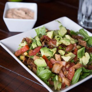 Chopped Mexican Salad with Creamy Chipotle Dressing