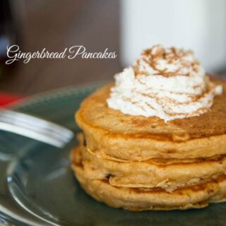 gingerbread pancakes on a plate