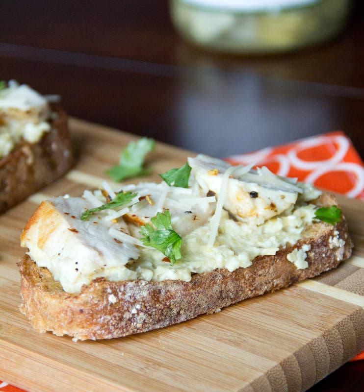 Open Face Chicken Sandwich w- Artichoke Pesto