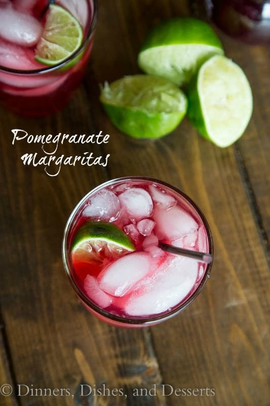 Pomegranate Margaritas #ChristmasWeek