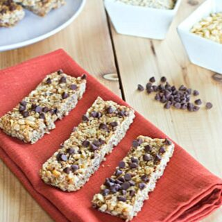 No Bake Chewy Granola Bars