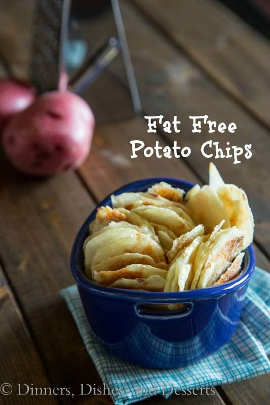 fat free potato chips in a bowl