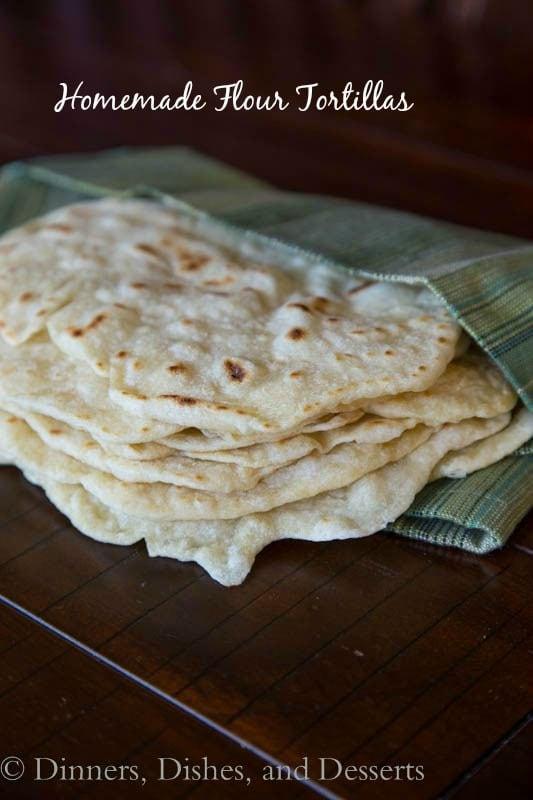 Homemade Flour Tortillas – soft and tender flour tortillas are just ...