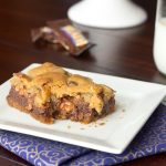 Gooey Chocolate Chip Toffee Bars #ChocolateParty