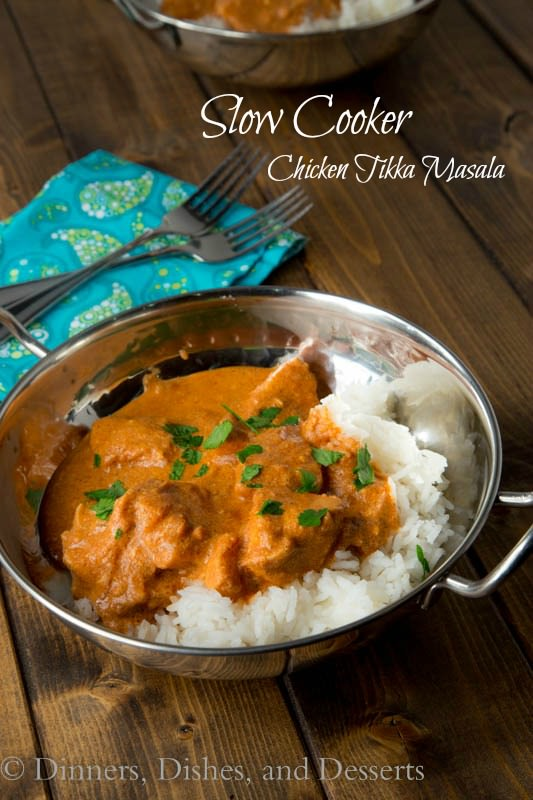 Slow Cooker Tikka Masala - Use your slow cooker to make a flavorful, comforting Indian Chicken Tikka Masala