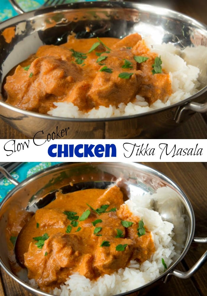 Slow Cooker Tikka Masala - Use your slow cooker to make a flavorful, comforting Indian Chicken Tikka Masala. Easy and great for any night of the week.