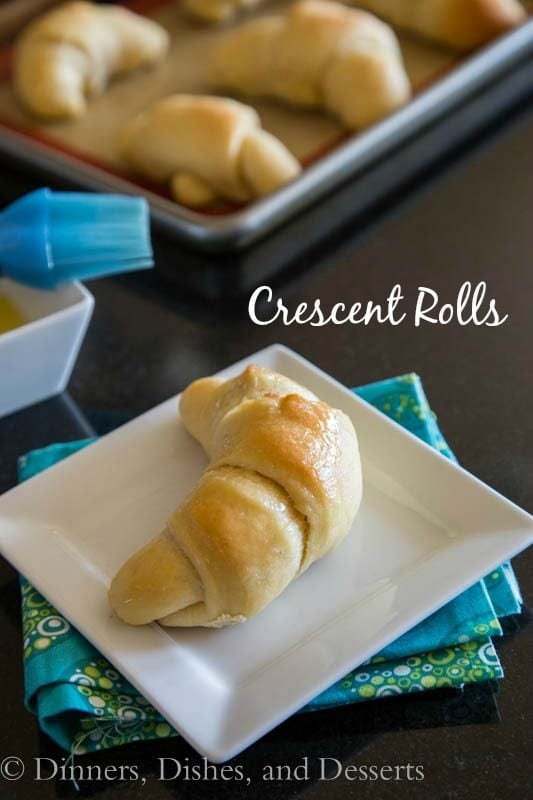 crescent roll on a plate