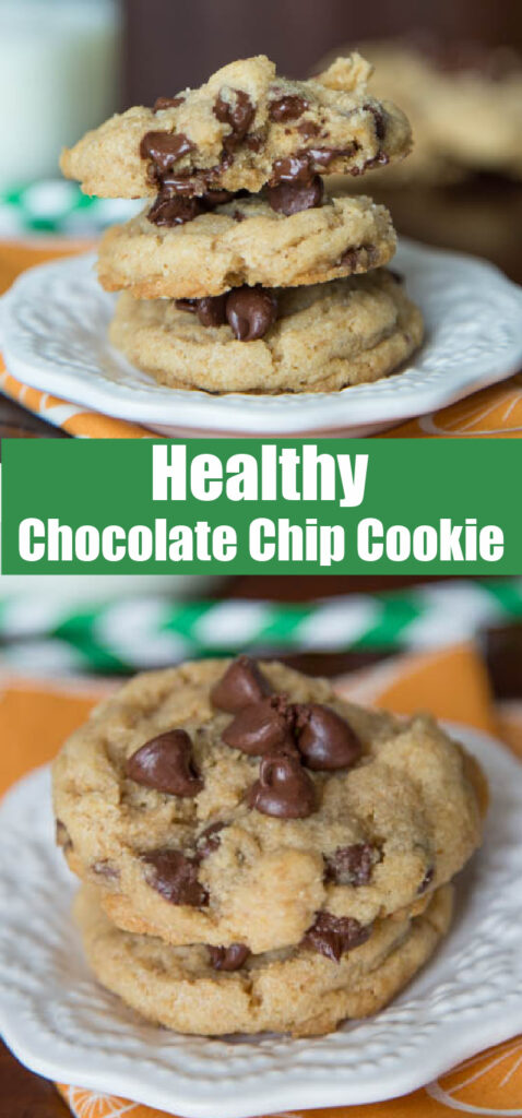close up healthy chocolate chip cookie