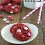 Red Velvet M&M Cookies