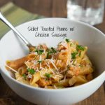 Skillet Toasted Penne with Chicken Sausage