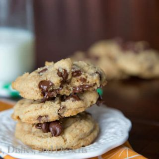 whole wheat chocolate chip cookies on a plate
